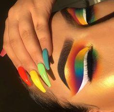 Gorgeous Makeup: Tips and Tricks With Eye Makeup and Eyeshadow – Makeup Design Ideas Makeup Eye Looks, Cute Makeup, Pretty Makeup, Fox Makeup, Witch Makeup, Awesome Makeup, Clown Makeup, Costume Makeup, Makeup Goals