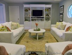 Ikea besta unit with besta doors and added trim GORGEOUS SHINY THINGS: The Living Room Miracle