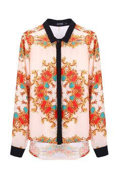 Baroque Color Block Anomalous Shirt(Arrival on September 17th)