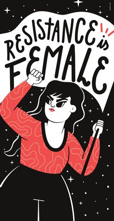 Resistance Is Female Art Print by Camila Rosa - X-Small