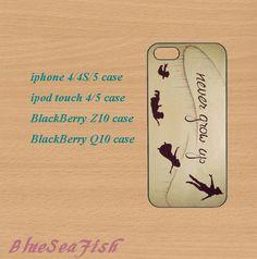 iphone 4 case,iphone 5 case,ipod touch 4 case,ipod touch 5 case,Blackberry z10 case,Blackberry q10--peter pan,cute iphone 5 case,in plastic by BlueSeaFish, $14.99