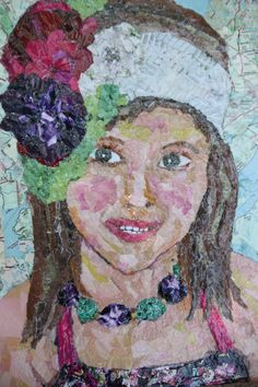 Emma,Torn Paper Art, Texas artist Ginger Brunson