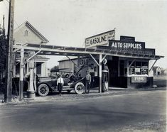 vintage gas stations | C1:163 Hamblin Studio Service Station Photograph Collection. LVA 09 ...