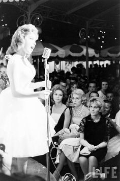 Annette Funicello performing at Disneyland's First Annual Grad Nite Party, June 15, 1961.