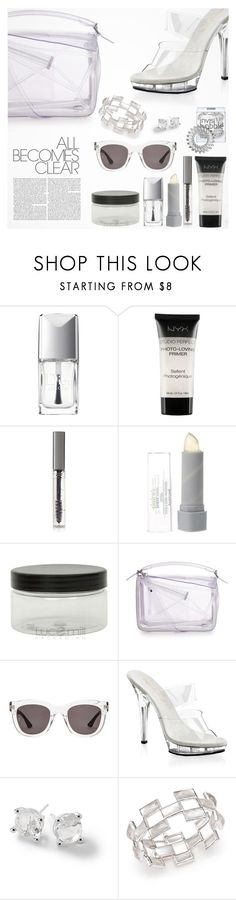 """""""Clear Accessories"""" by tawnee-tnt ❤ liked on Polyvore featuring Christian Dior, NYX, BBrowBar, Invisibobble, Loewe, Wonderland, Pleaser, Ippolita, clear and Seethru"""