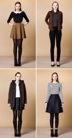 Fall outfits - Betina Lou A/W 2015. love the two outfits on the left!