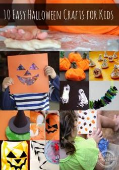 10 Easy Halloween Crafts for Kids by rhoda