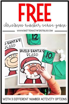 preschool Archives - Smitten with First Santa Activities For Preschool, Preschool Centers, Preschool Projects, Christmas Games For Preschoolers, Kindergarten Special Education, Christmas Math, Christmas Crafts, Number Sense, Compass