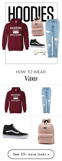 """lazy day"" by loster98 on Polyvore featuring Topshop, Vans and Hoodies"