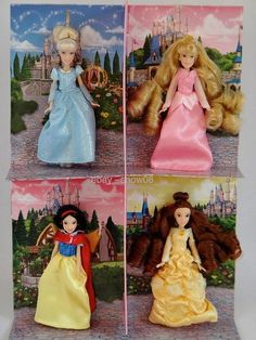 Featured are Cinderella, Aurora, Belle, and Snow White. This is a lovely set of four Disney Parks Princess Small dolls Set. of 4 Rapunzel. | eBay!