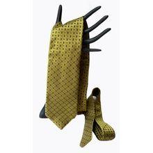 Vintage Zegna Necktie Light Olive Green and Brown Silk