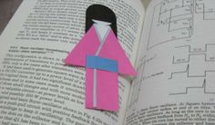 Bookmark Japanese Doll Template Papercraft - by Paper Holes - ==  -  An easy-to-build Japanese Paper Doll Bookmark, by Indonesian website Paper Holes.