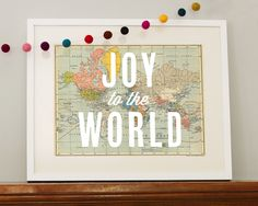 joy to the world print. LOVE this for vintage Christmas.