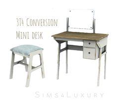 Mini desk conversion | Sims4Luxury