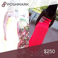 Prom dresses You will be a picture of elegance in this strapless sweetheart dress.With a ruched bodice, the details of this dress are one of a kind. The floor length dress also features a sexy side slit which is great for showing off your toned legs. Coach Dresses Prom