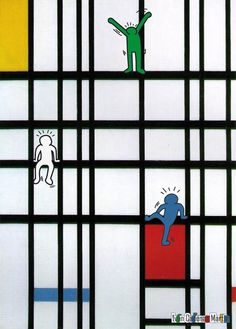 Keith Haring + Piet Mondrian à la manière de...                                                                                                                                                                                 Plus