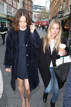 Promotional trail:Daisy gave the look a grungy feel with her shaggy, centre-parted bob wh...