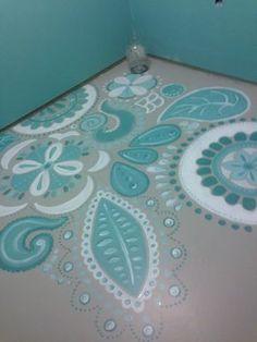 How to paint concrete floors, Postbox Designs