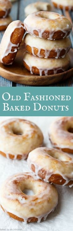 These donuts are crazy good! Baked Old Fashioned Donuts with buttermilk, a thick luscious glaze, and no yeast! #donuts #oldfashioned #breakfast