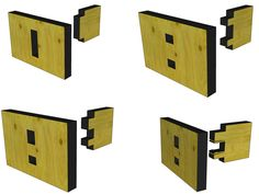 Tab-and-slot T joints