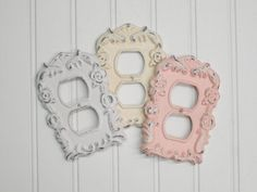 Plug Cover/Outlet Cover/Fancy Rose/Outlet Cover/SSLID0110/Plug Plate/ Decorative Cover/Ornate Plug cover/ Shabby Chic/Plate Cover   Gorgeous and fa...