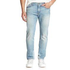FRAME Denim 'L'Homme' Slim-Fit Men's Jeans in Light Blue Wash 34x34 NWT $219.00…