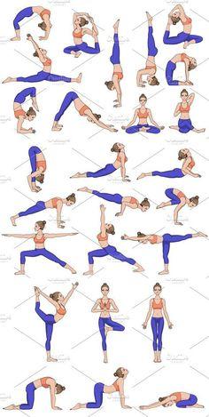 Part 1 26 Yoga poses. Part 26 Yoga poses. Part 1 Related beginner plus size yoga poses for women - Are you wanting to use yoga for wei. Iyengar Yoga, Ashtanga Yoga, Basic Yoga Poses, Yoga Poses For Beginners, Yoga Routine, Diy Yoga, Yoga Fitness, Yoga Training, Yoga Sequences