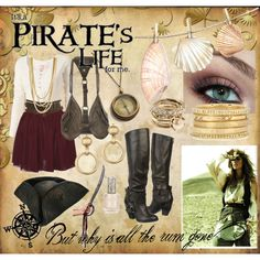 """""""DIY Pirate Costume"""" for Pirate Night on cruise..change up a bit so it's more appropriate for Sophie"""