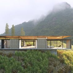 West elevation. Proposed Courtyard House. Huangshan China