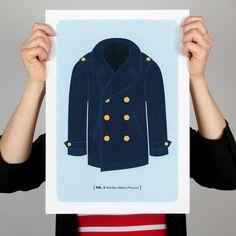 Nautical Man Print Series: Peacoat - 326