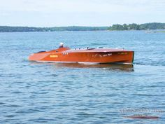 """Our newest addition to boats for sale: a reproduction of a 1923 APBA Hacker Race Boat, the """"Elusive"""". This reproduction features a hull built in 2000, Twin Mercruiser 454's 400H.P. engine, and 15 coats of 2 part clear UV varnish added to decks and sides. Get it while you still can at http://mahoganybay.net/inventory/1923-2/"""