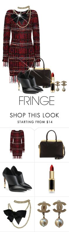 """""""Fringe Fabulous"""" by shamrockclover ❤ liked on Polyvore featuring Balmain, L'Oréal Paris and Chanel"""