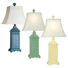 Coastal Shutter Table Lamp Collection