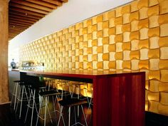 Sound absorbing wall panels www. Commercial Interior Design, Commercial Interiors, Office Dividers, Acrylic Panels, Wall Installation, Acoustic Panels, Textured Walls, Kitchen And Bath, Architecture Details