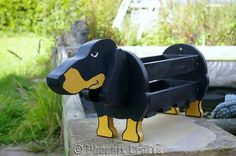 Dachshund Plant Pot Holder Garden Ornaments Decorations Dog Dogs Pet Pets Handmade Planter on Etsy, $42.67