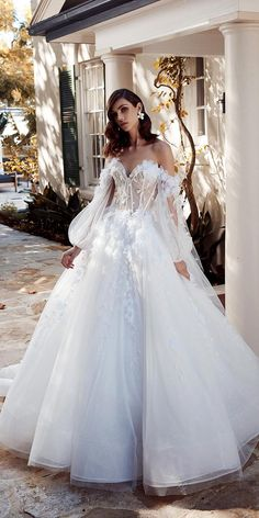 Shopping for trendy wedding dresses 2020 can be one of the most exciting aspects of planning a wedding. But there are so many styles to choose from. Check out these trendy bridal gowns from the top designers for Celebrity Wedding Dresses, Stunning Wedding Dresses, Cheap Wedding Dress, Dream Wedding Dresses, Bridal Dresses, Beautiful Dresses, Wedding Gowns, Wedding Ceremony, Lace Wedding