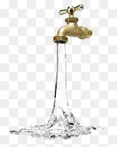 물,투명한 물,수도꼭지,철물,금속의 질감이 난다,금색