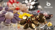 Flowers made from Pip - free pdf ~ Seed Bead Tutorials