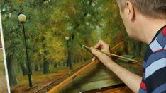 Работа над картиной Осень в парке. Process of creating oil painting from...