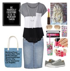 """Shopping Day (read D box)"" by missbeth1897 ❤ liked on Polyvore featuring Ray-Ban, Americanflat, Converse, Charlotte Russe, Panacea, Casetify and Kevyn Aucoin"