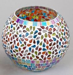 formano Windlicht Mosaikglas Multicolor 15 cm