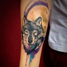 lobo tattoo acuarela - Buscar con Google