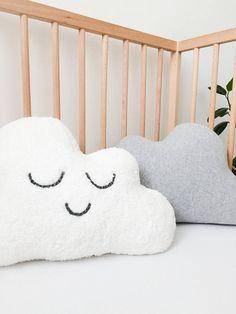 Neutral nursery decor ideas, cloud, pillow, nursery pillow, cloud pillow, monochrome nursery decor, nursery cushions by Emma's Story
