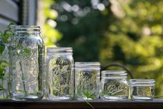 If you paste black construction paper around a mason jars, you will be able to block out air, heat, and light—making them ideal for cannabis storage.