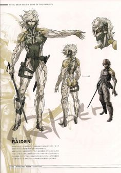 http://charactermodel.tumblr.com/post/51522943675/raiden-concept-art-master-artworks-metal-gear