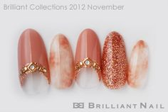 06 Special nail color pattern in fashion autumn and winter adult cute ♪ November 2012 Burikore #gyaru #nailart