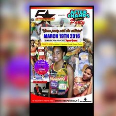 2016 AFTER JERSEY PARTY, 19th March, Barbican Beach, 7p.m.-3a.m.  Entertainment: ZJ Bambino-Zip FM & Dancehall sensation Denyque. Lots of special guest artists and sports celebrities will be there.  Tickets: Liguanea Drug & Garden, 134 Old Hope Rd, Kingston. T: 977-0066 / 977-3835.  Adequate security will be provided by the Caribbean's #1 security co. Guardsman Grp Ltd.   SPONSORS: Down 2 Earth Productions, T. Geddes Grant Dist Ltd, Jamaican Teas Ltd, Trade Winds Citrus Ltd & Coldfield Mfg…
