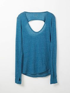 teal cut-out top
