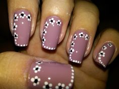 Nail Design Art 2015 Latest Nail Art Fashion for Girls Women Page 5 French Tip Nail Designs, Dot Nail Designs, Flower Nail Designs, Flower Nail Art, Nails Design, Paint Designs, Nail Art Stripes, Dot Nail Art, Manicure 2017