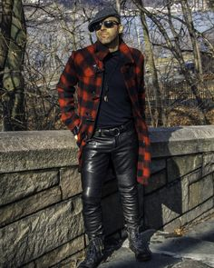 Here's a shot from a new photoshoot I did in New York City's Upper West Side's Riverside Park. Check out my tunes and see & hear. Tight Leather Pants, Leather Jeans, Toms Style, Riverside Park, West Side, Business Casual, Casual Looks, Diesel, Gloves